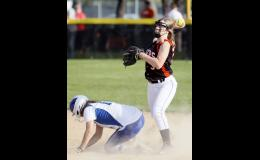 Freshman second baseman Tyra Myers turned to fire toward first on a double play attempt last Tuesday against LPGE.
