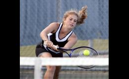 Sara McCoy (pictured), along with partner Abbi Larson, placed third at third doubles.