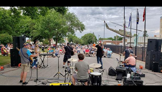 The Red Letter Band kicked off the revival of the Thursday night Concert in the Park series in Long Prairie.