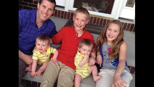 Dr. Thomas Ferry, along with his children Elijah, Olivia and Mason and Thomas Jr. Dr. Ferry was a practicing physician in Long Prairie until he was diagnosed with colon cancer. A fundraiser has been established to help with his burial.