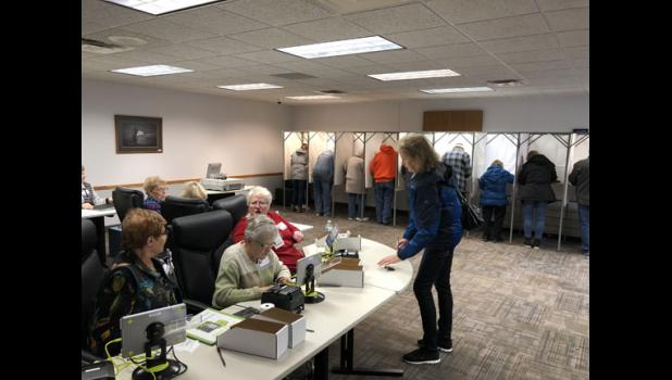 The Long Prairie City Hall polling station was a busy place Nov. 6.