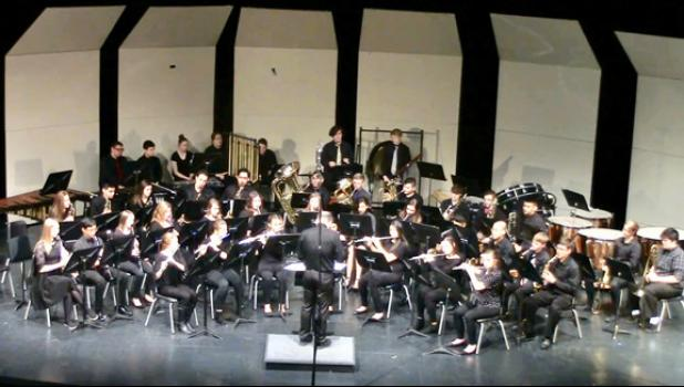 The Long Prairie-Grey Eagle High School Band received a Superior rating during a recent competition.