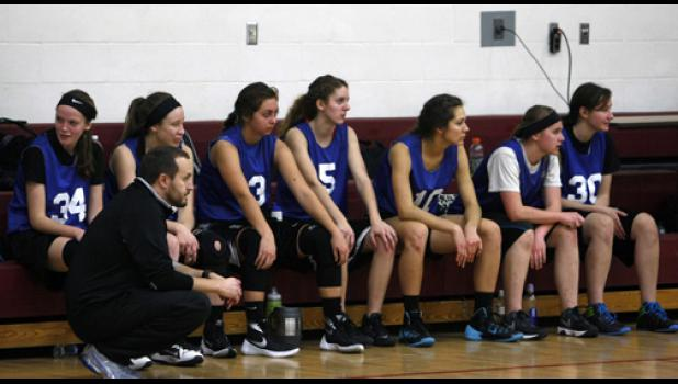 The Thunder girls played in a scrimmage at Sauk Centre last Saturday.