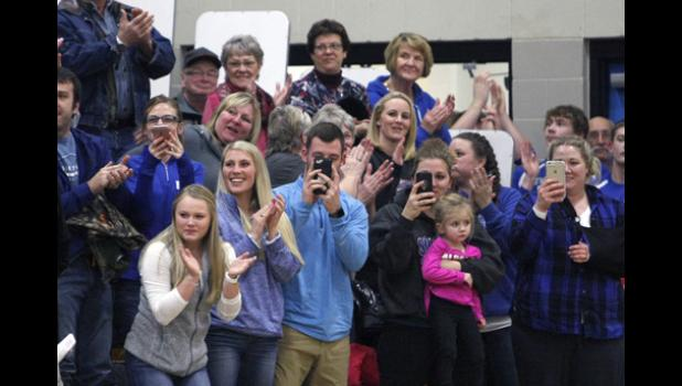 There were plenty of friends and family who came out to celebrate Emily Beseman's milestone night.