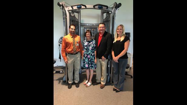 Ben Dehn, Manager,Rehabilitation Services, CentraCare – Long Prairie, Mary and Doug Schmidt, Nicole Bjerke, Senior Development Officer, CentraCare Foundation.
