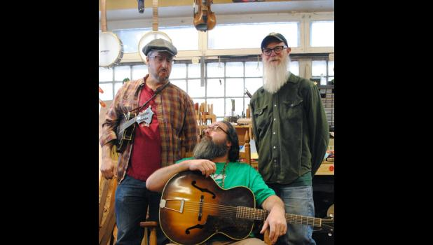 Fred Keller (L), Mike Chew (M), and Eric Paulson (R) will be the three members of the Skally Line to perform in Long Prairie on Feb. 9.