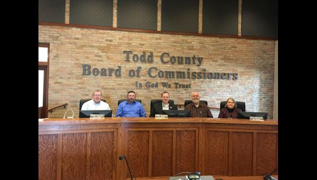 The Todd County Board of Commissioners include, from left, David Kircher, Gary Kneisl, Randy Neumann, Rod Erickson and Barb Becker.