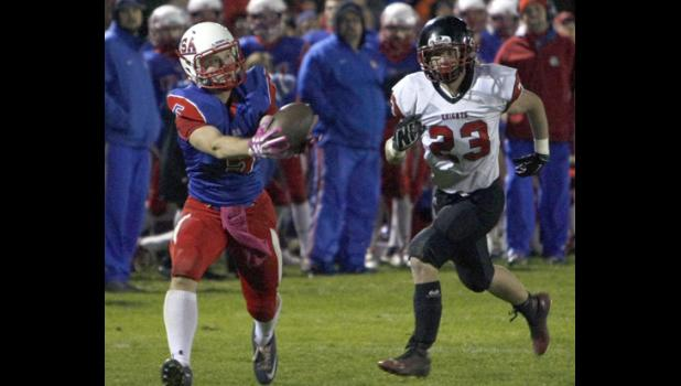 USA senior Eric Koetter beat WCA/A's Caden Fernholz on a deep route and hauled in a 43-yard touchdown in the third quarter.