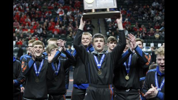 The LPGE-Browerville Wolves wrestling team capped off a terrific season as the #1 ranked team in the state by bringing home the State Class A Championship.