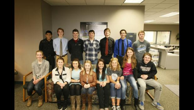 The royalty and class representatives this year include: in front, from left, Clair Liebsch, Kayla Bense, Karley Pohlmann, Hailey Schleter, Whitney Reimer, Natalie Minke, Allison Ecker and Hudson Pung. In back, from left, Jorge Botello, Nicholas Abraham, Hunter Cavallero, Mitchell Tesch, Joshua Connor, Luke Gustafson and Sam Olson. Not pictured is Taylor Kingston.