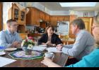 Pat and Jody Lunemann recently hosted Sen. Amy Klobuchar for discussions on agriculture.