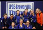 The Wolves put up several personal records to help post their best team score of the season. Back row from left: Emily Leroux, Reanne Warwick, Jarrah Langner, Tianna Larson, Elle Olson, Emma Kedrowski. Front row from left: Brianna Young, Tristen Marcyes, Kaitlyn Proell.